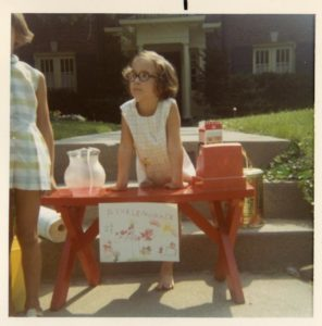 Ayun Halliday lemonade stand circa 1970
