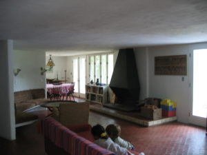 a portion of the living / dining area